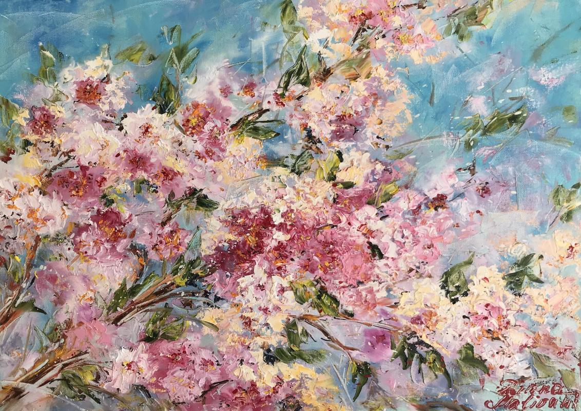 Диана Владимировна Маливани. Bloomy Peach Tree