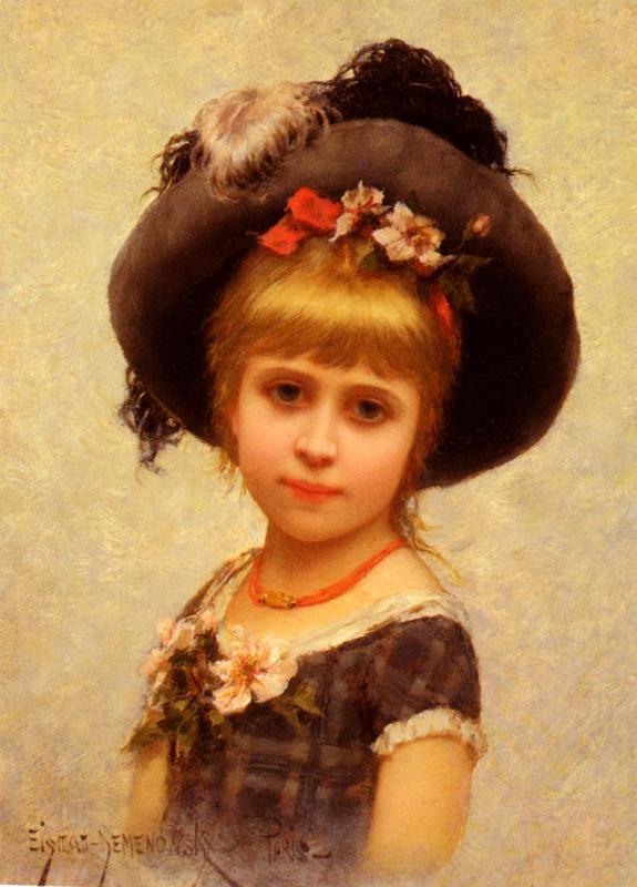 Эйзман Семеновски. Девочка в шляпе