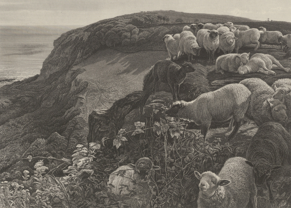 William Holman Hunt. Sheep on the English coast
