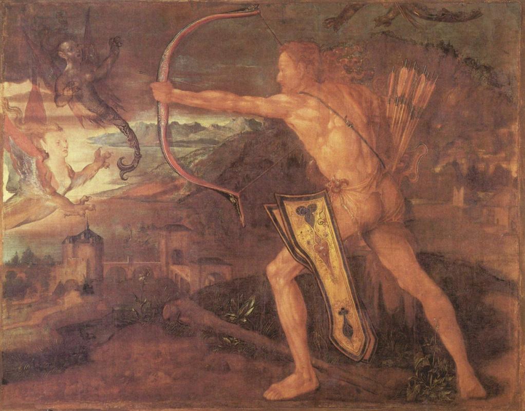Albrecht Durer. Hercules and the stymphalian birds
