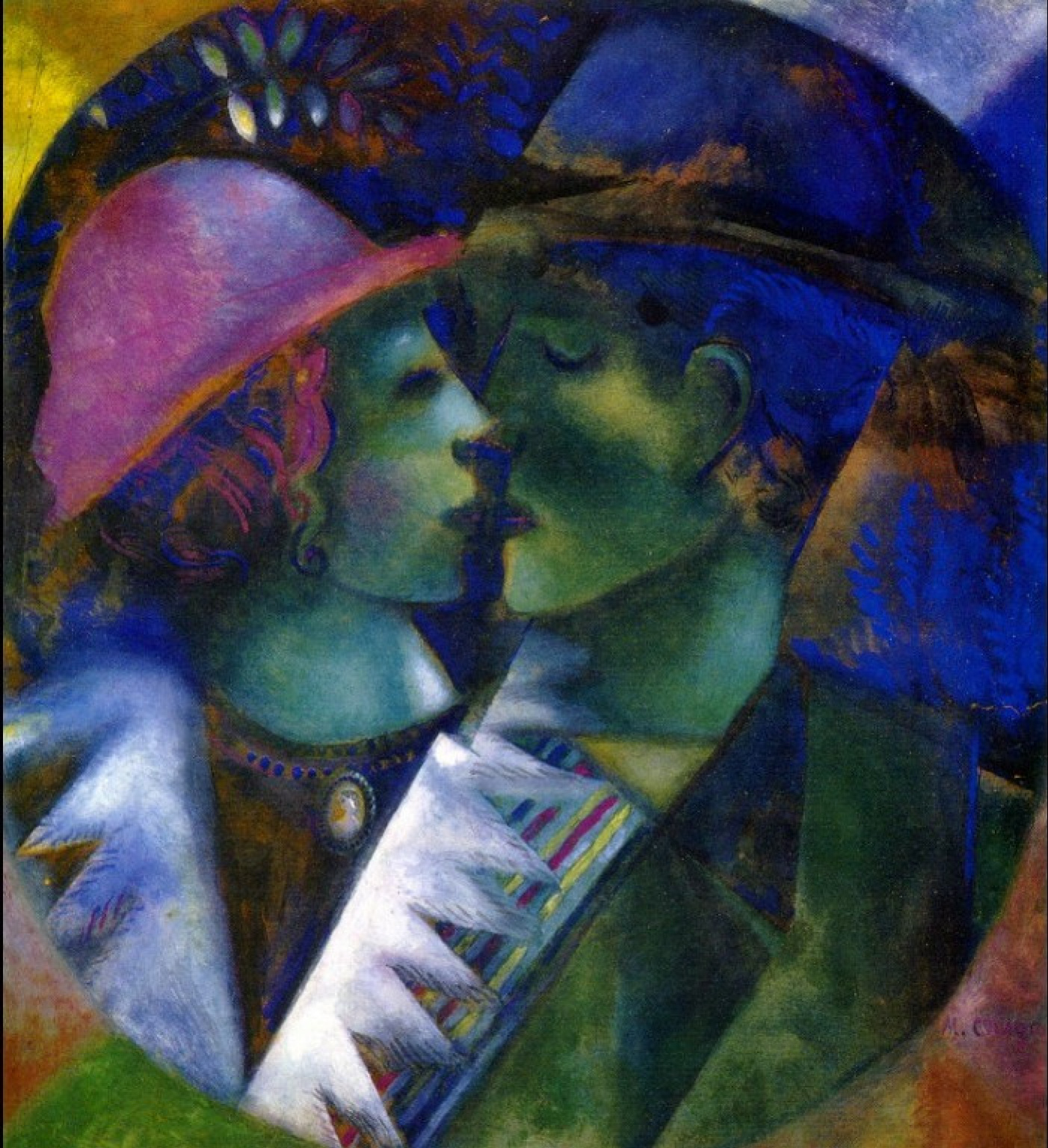 Marc Chagall. Green lovers