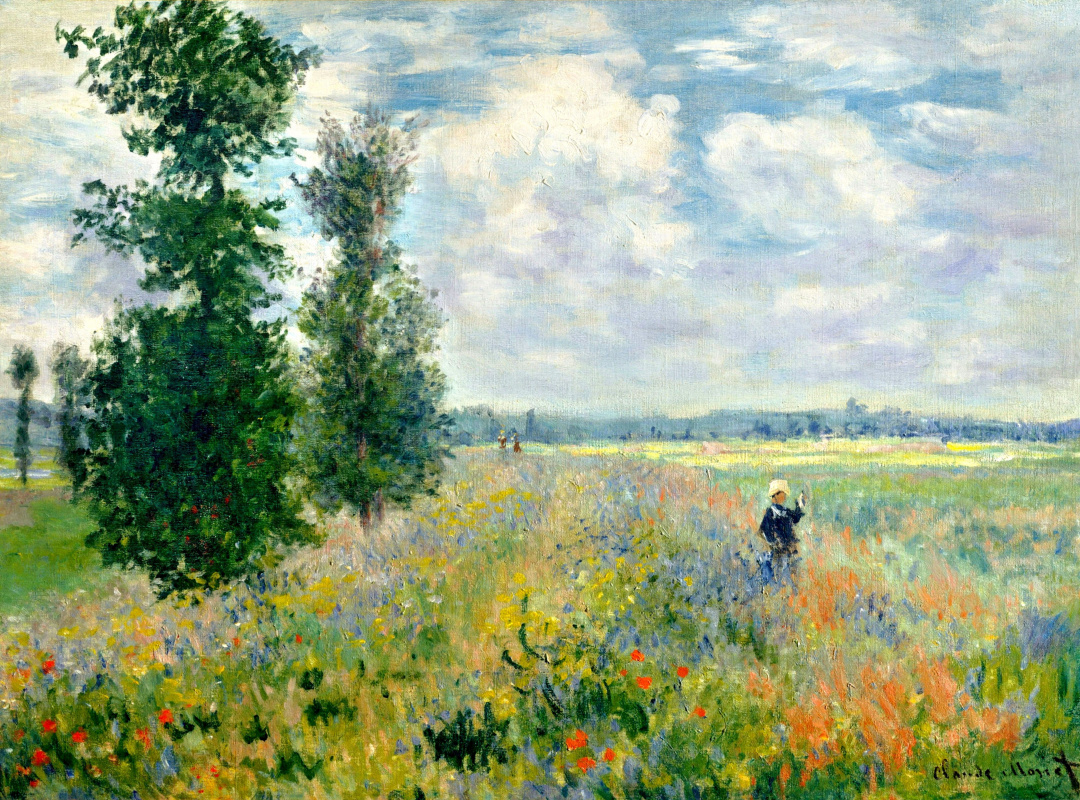 Claude Monet. Field of poppies, Argenteuil