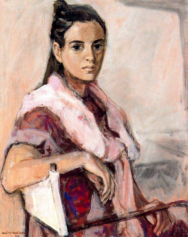 Miro Mayinou. The woman in the chair