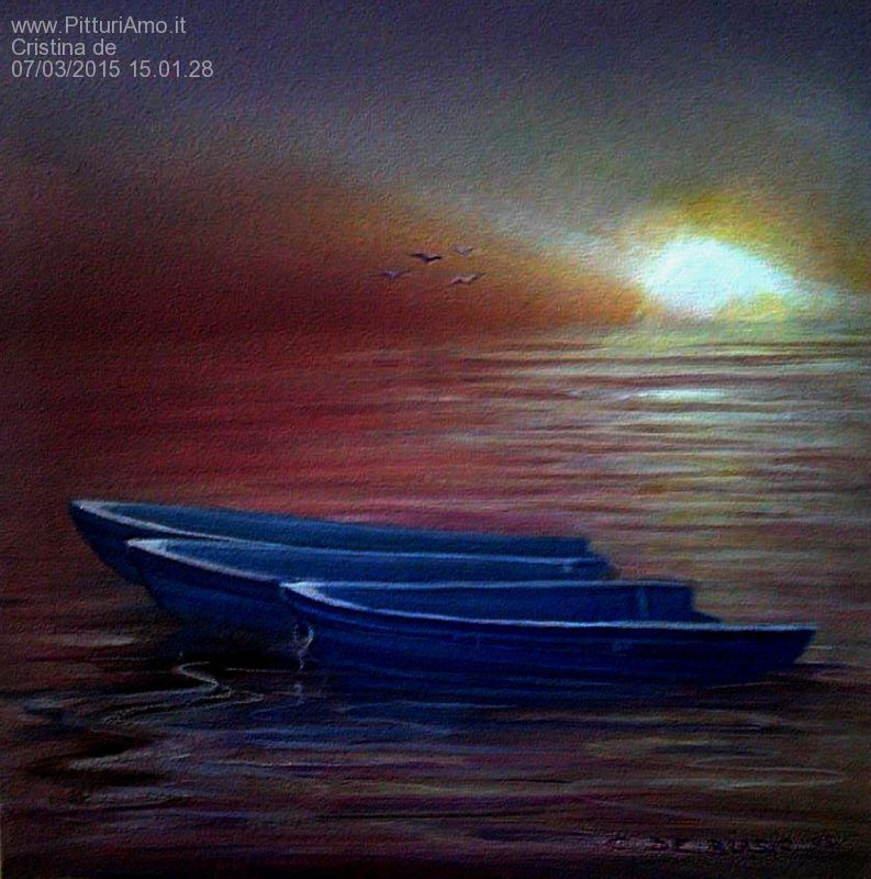 Cristina de biasio. Blue boats