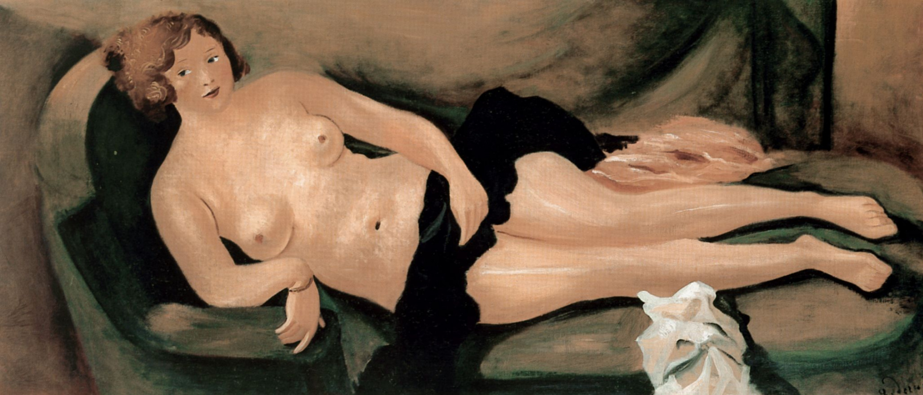 Andre Derain. Nude on the sofa