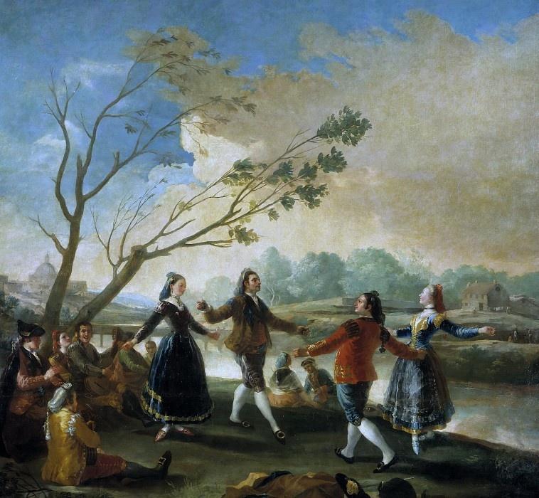 Франсиско Гойя. Танец на берегу реки Мансанарес
