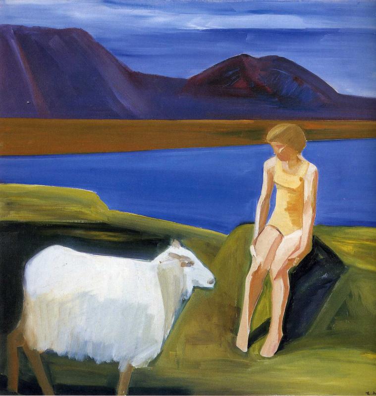 Девушка с овцой
