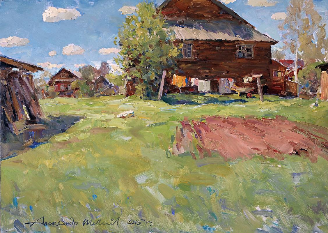 Alexander Victorovich Shevelyov. May noon.DDP oil 36.5 x 54.5 cm.