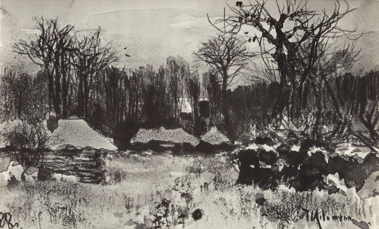 Исаак Ильич Левитан. Деревня. Ранняя весна