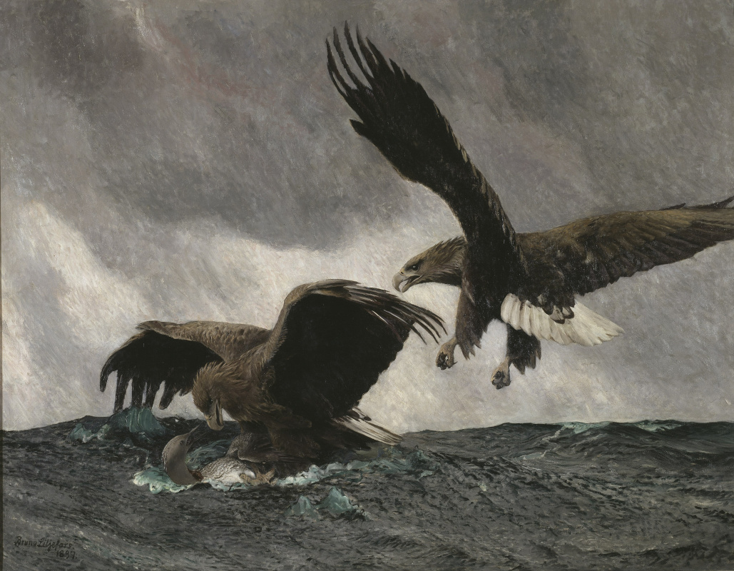 Bruno Liljefors. Hunting eagles