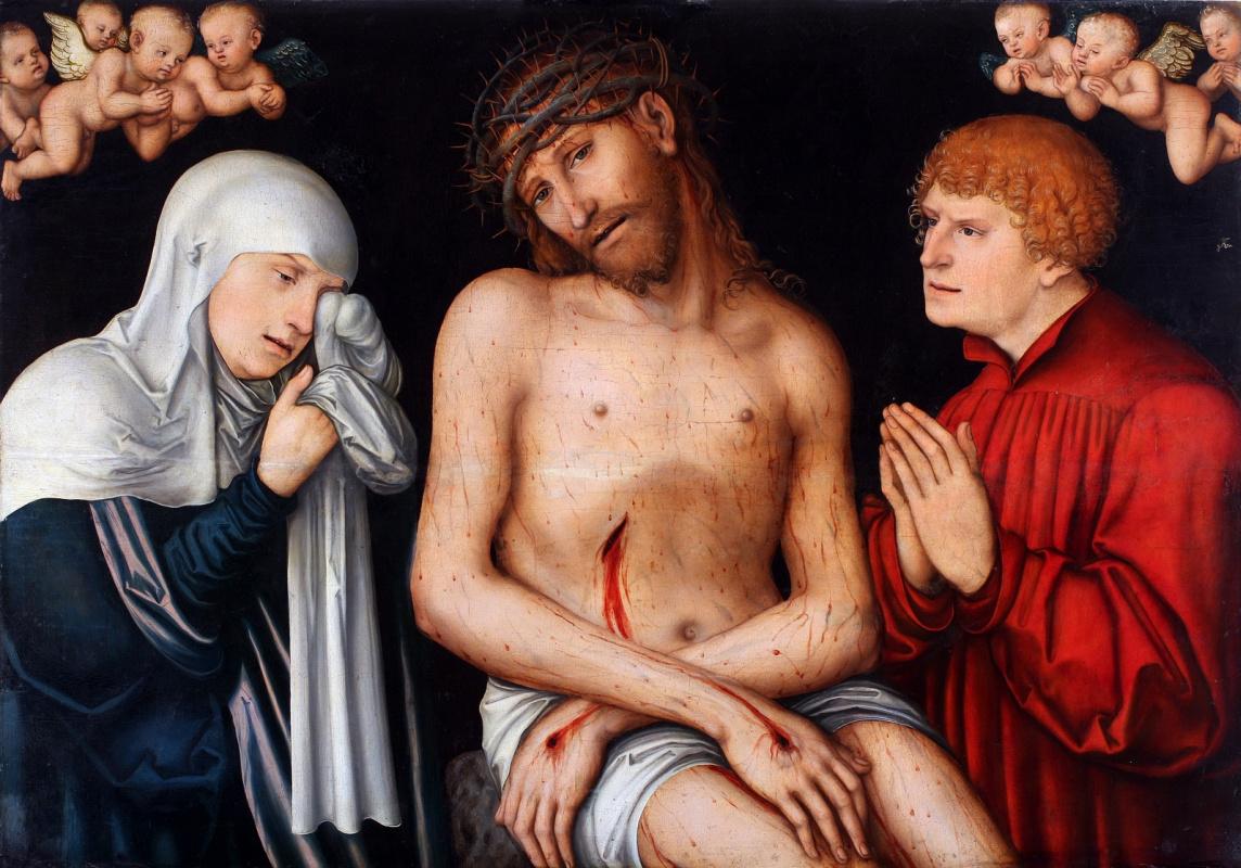 Лукас Кранах Старший. Христос с Богоматерью и святым Иоанном Богословом