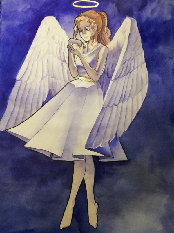 Diana Eminovna Rasulova. Angel with wings