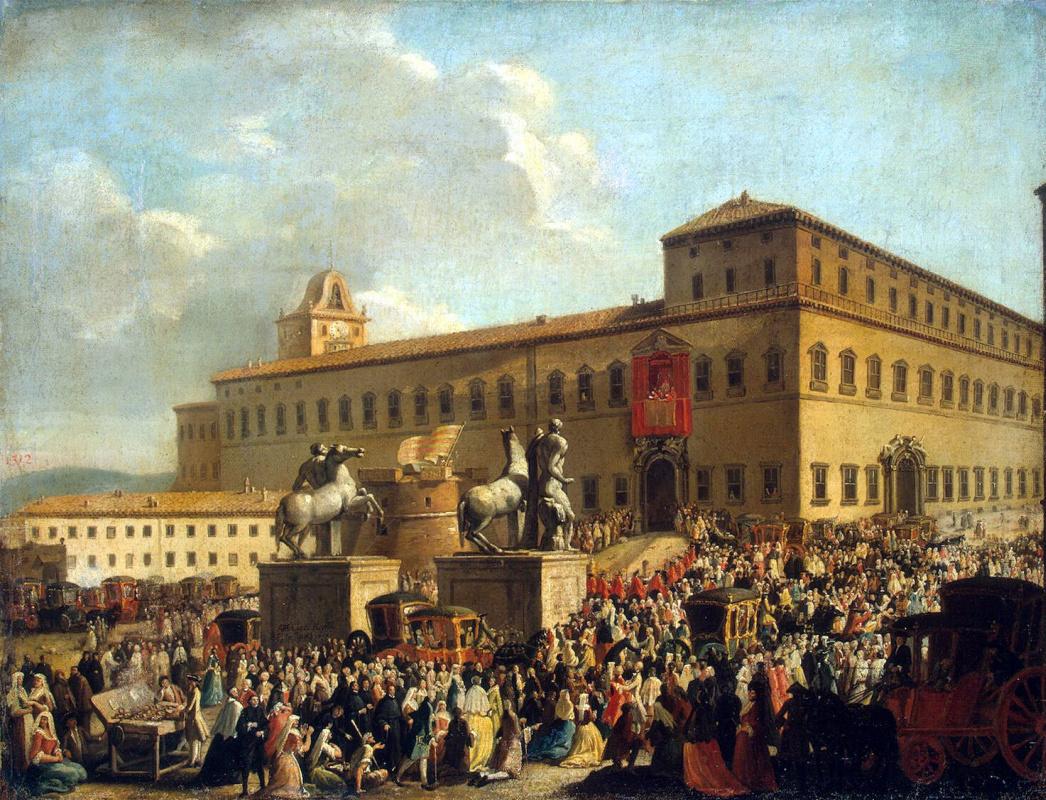 Антонио Чиочи. Празднество у Квиринальского дворца
