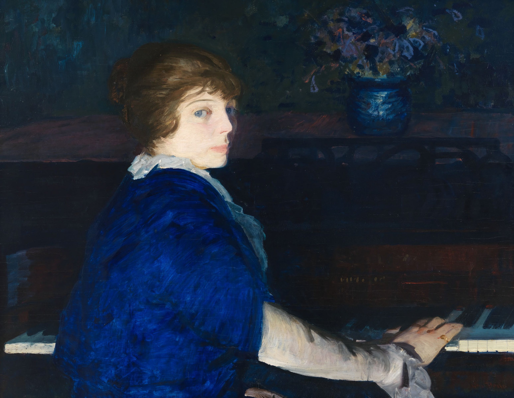 George Wesley Bellows. Emma at the piano