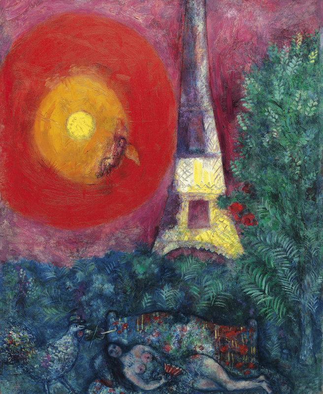 Марк Захарович Шагал. Эйфелева башня