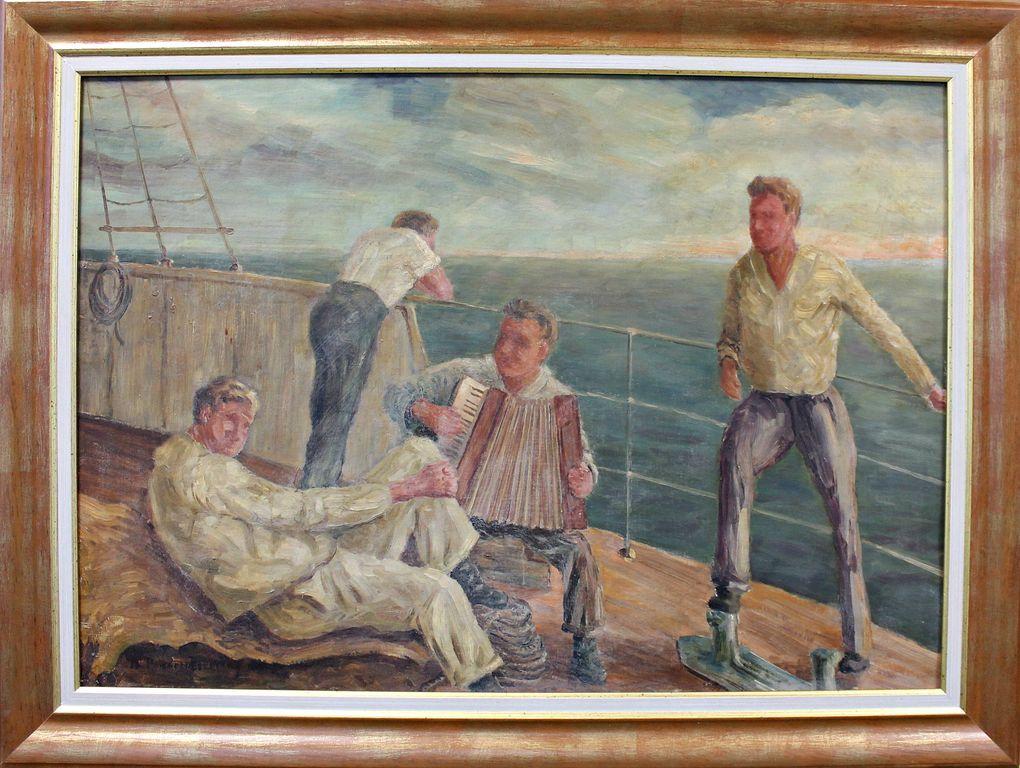 Vasily Vasilievich Rozhdestvensky. On deck