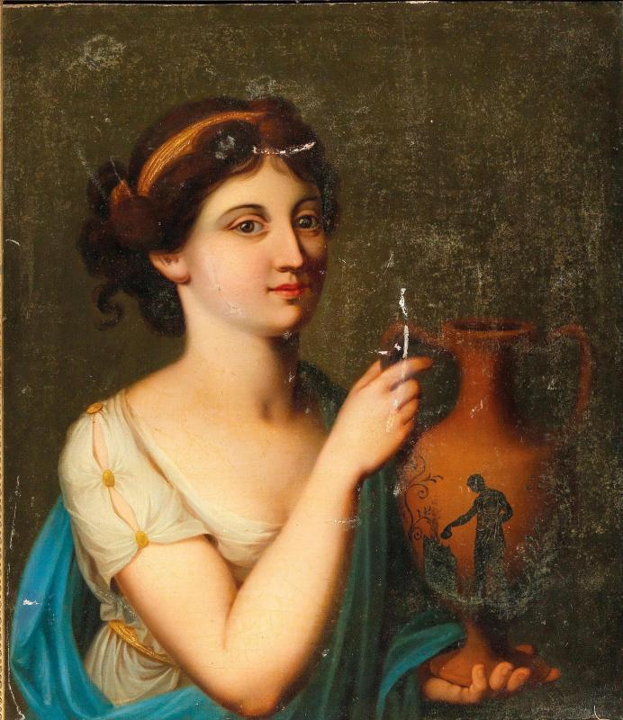 Ангелика Кауфман. Женщина в античном одеянии с вазой