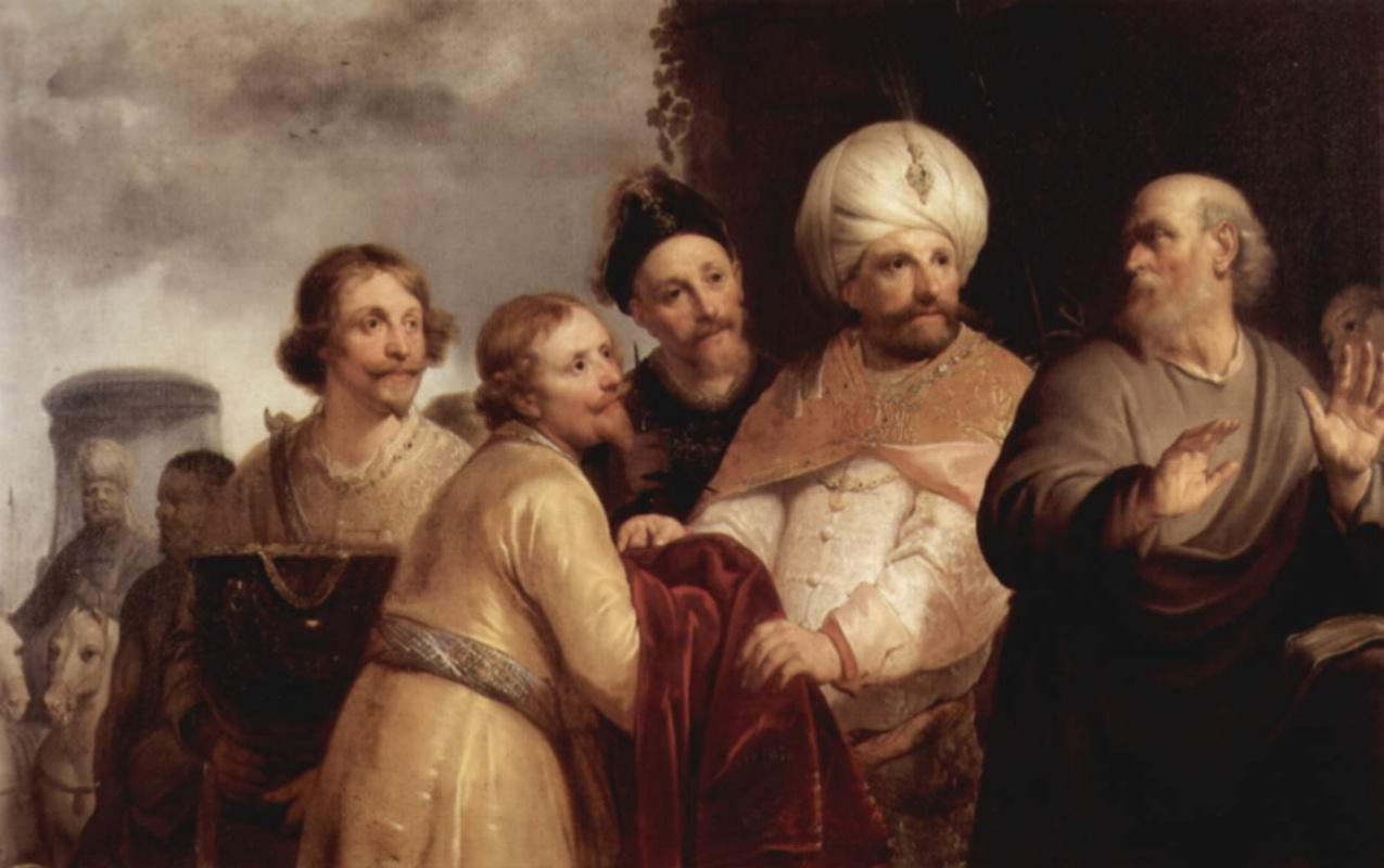 Питер Франс де Греббер. Елисей отвергает дары Неемана