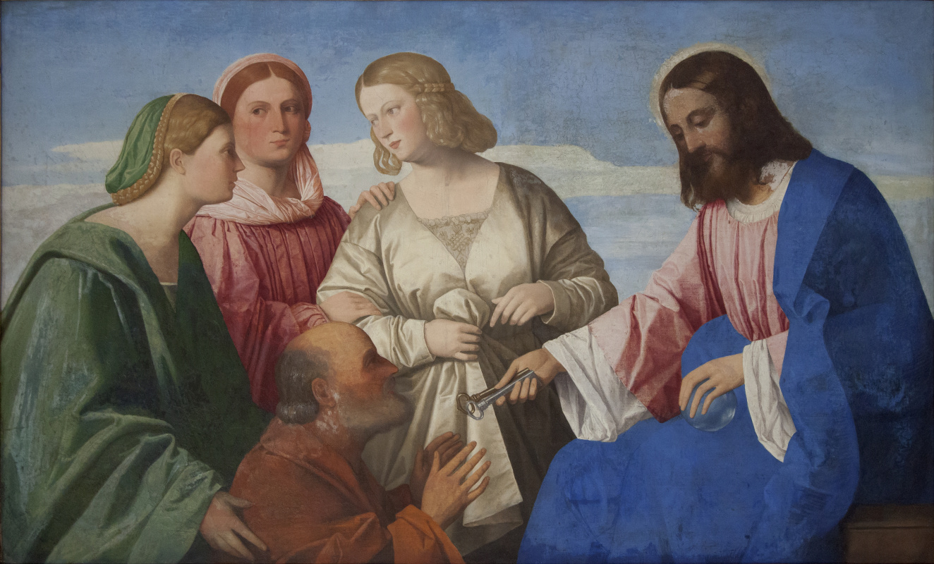 Vincenzo Di Biagio Catena. Christ handing over the keys to St. Peter