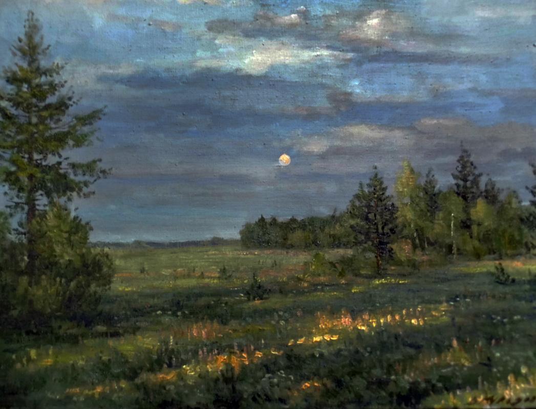 Виктор Владимирович Курьянов. Гаснет вечер,и на небе зажигается луна
