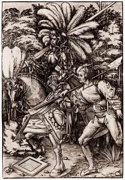 Hans Wehtlin. The knight and the Landsknecht