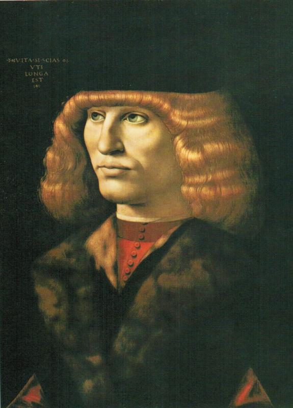 Giovanni Ambrogio de Predis. Portrait of a young man