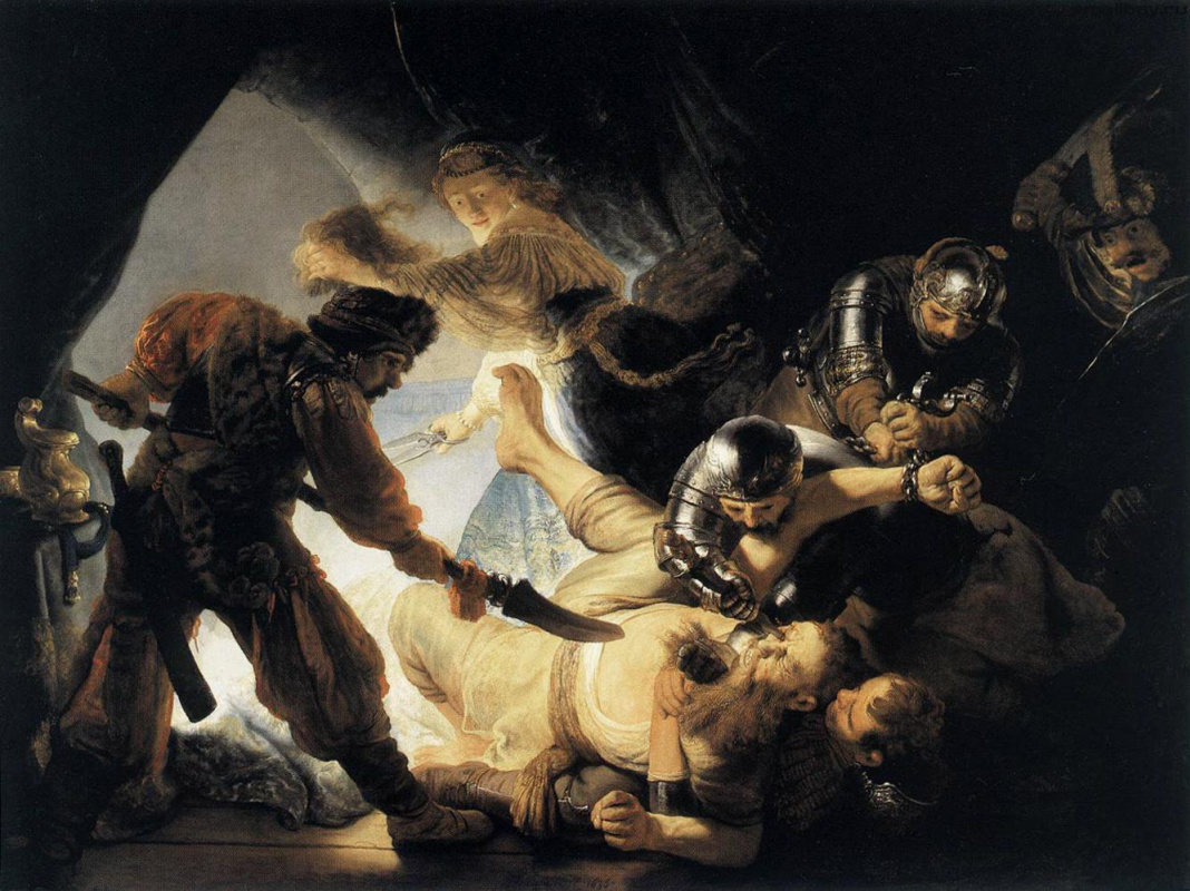 Рембрандт Харменс ван Рейн. Ослепление Самсона