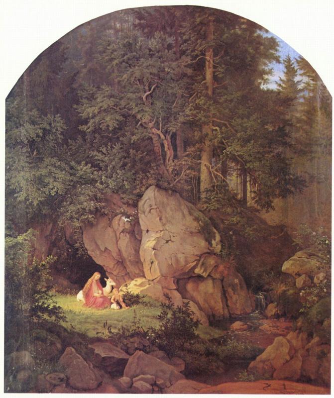 Адриан Людвиг Рихтер. Геновефа в лесной глуши