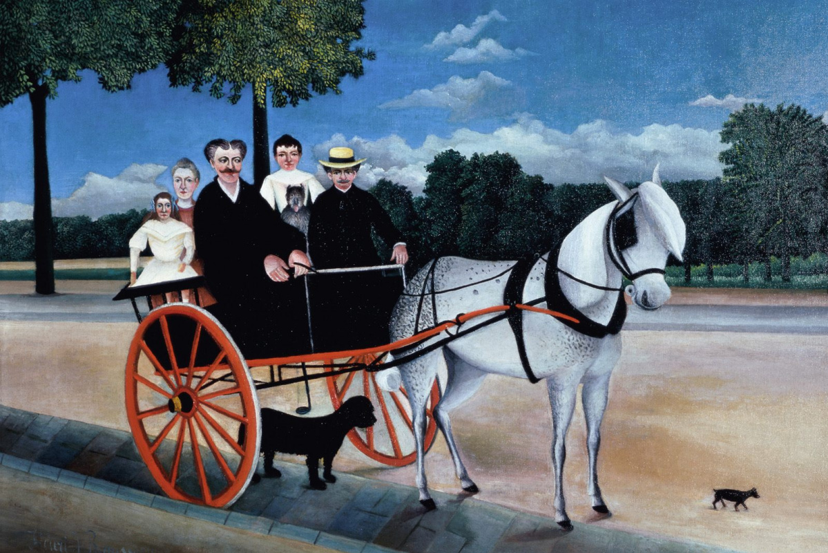 Henri Rousseau. Old Junier's cart