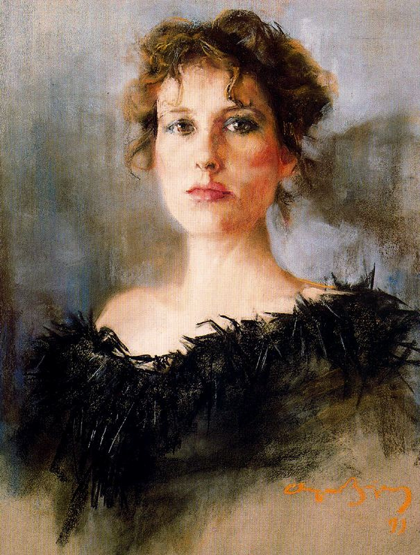 Cayetano de Archer Buigas. Portrait of woman in black