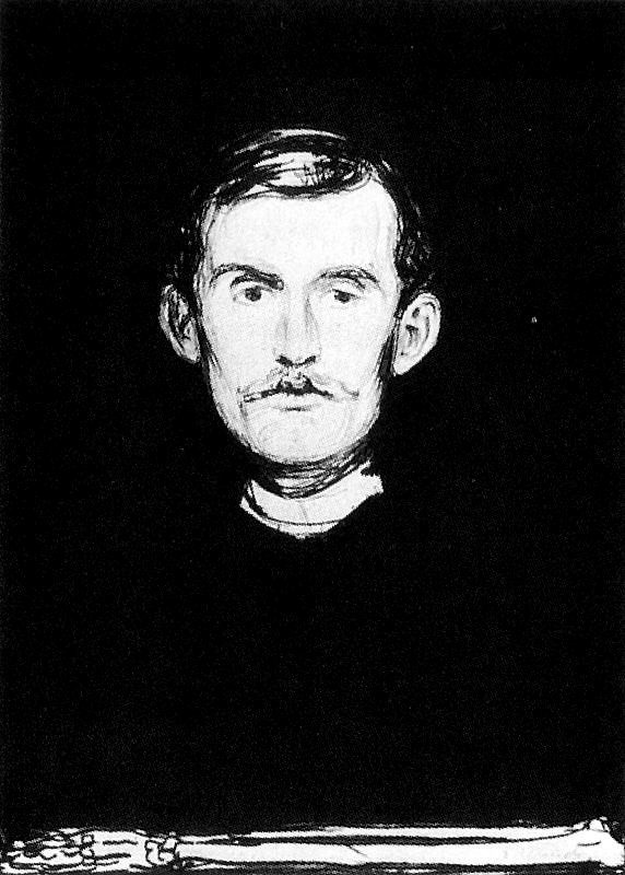 Edvard Munch. Self-portrait
