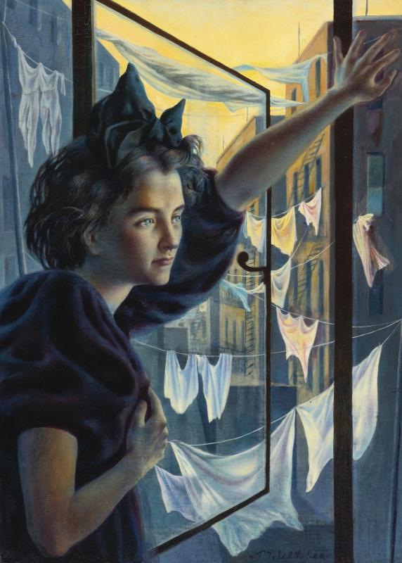 Павел Федорович Челищев. Женщина у окна