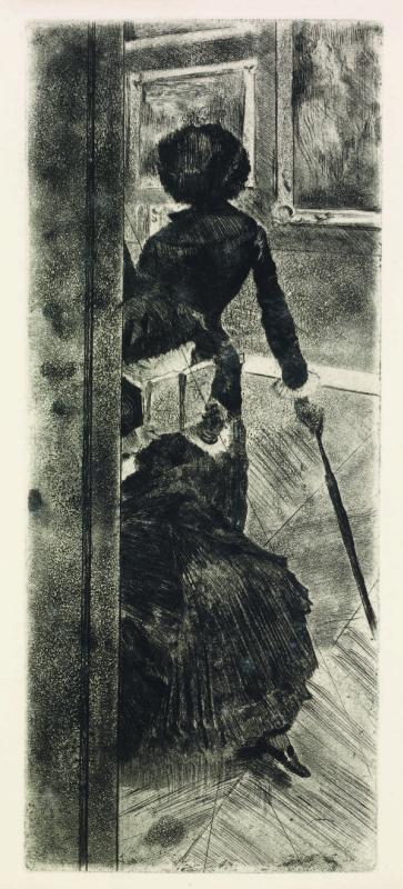 Эдгар Дега. Мэри Кассат в Лувре