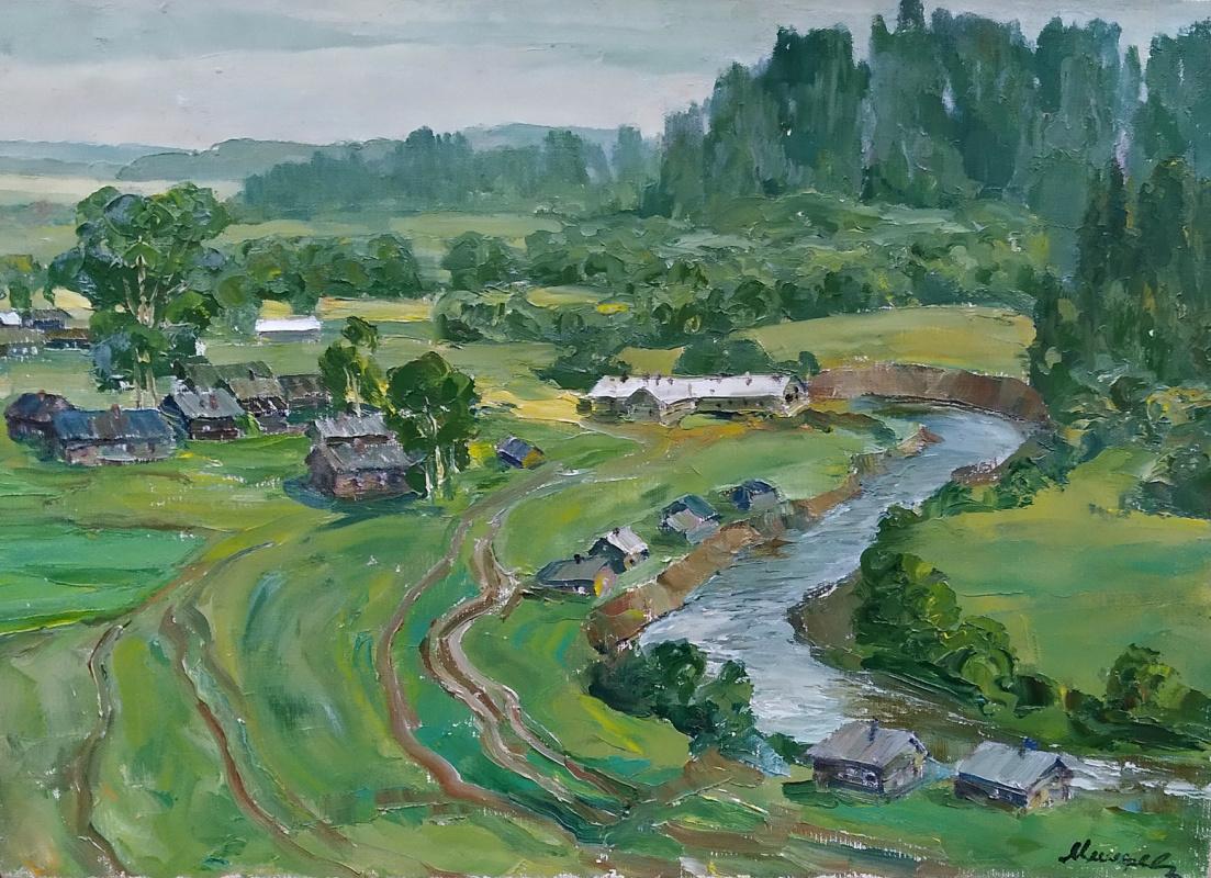 Fedor Pavlovich Mishchenko. By the river