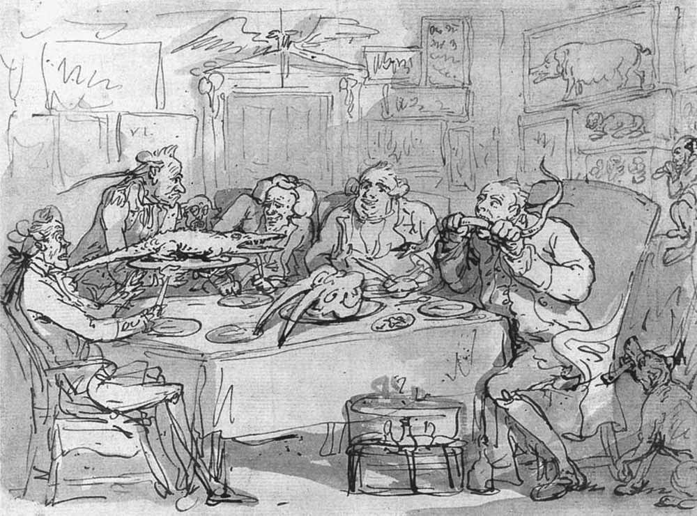 Томас Роулендсон. Рыбный ужин