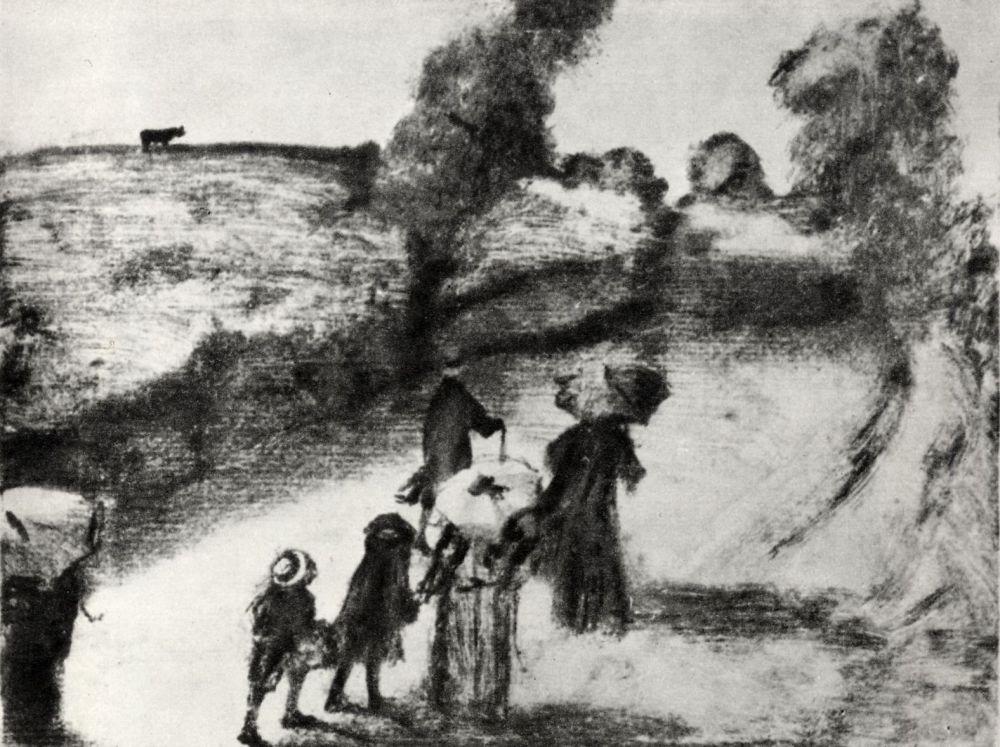 Эдгар Дега. Семья на прогулке