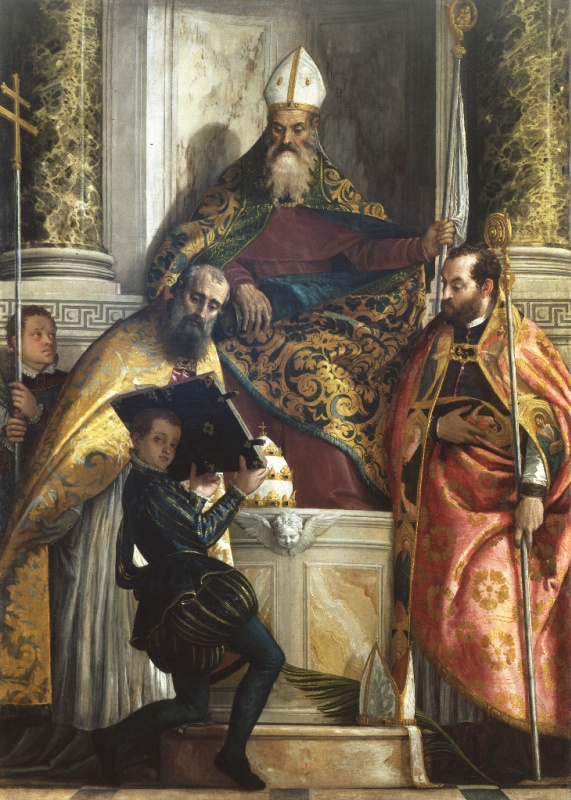Paolo Veronese. St. Anthony the Abbot with St. Cornelius and St. Cyprian