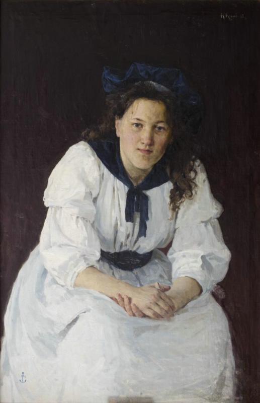 Alexey Mikhailovich Korin. Portrait of a young woman