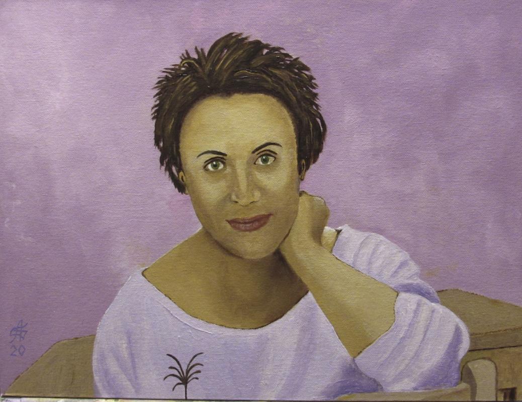 Artashes Badalyan. DIPTYCH: Portrait of Elena (day) - x-hardboard-m - 30x40