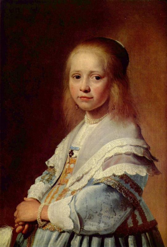 Ян Верспронк. Девочка в голубом, фрагмент