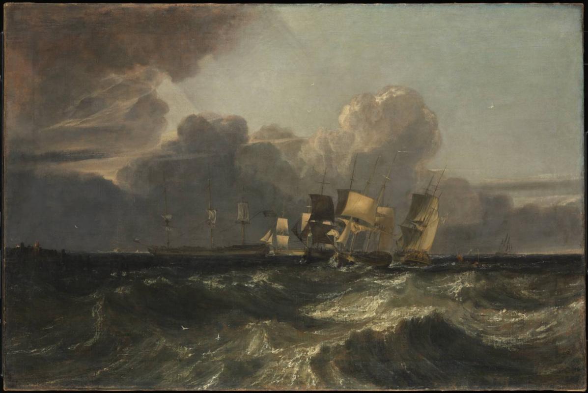 Джозеф Мэллорд Уильям Тёрнер. Корабли на якорной стоянке (Морской пейзаж в Эгремонте)