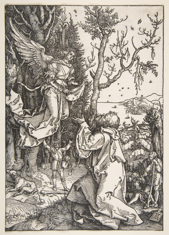 Albrecht Durer. Saint Joachim and the angel