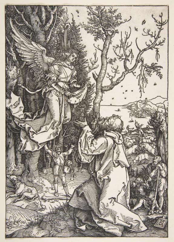 Albrecht Durer. Saint Joachim and the angel
