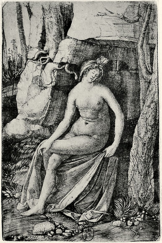 Jacopo de Barbary. Sleeping woman and snake