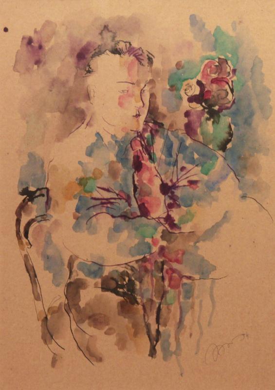 Рустам Усманович Хамдамов. Портрет молодого человека