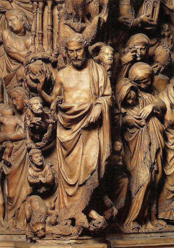 Niccolo Pisano. Jesus. Relief of the cathedral pulpit in Siena
