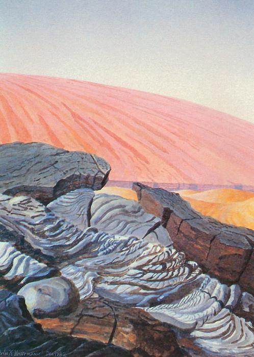 Уильям Хартманн. Поток лавы на Марсе
