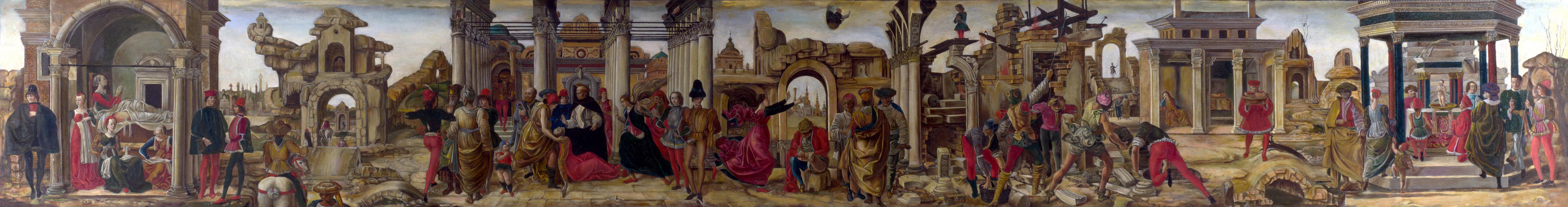 Франческо дель Косса. Сцены из жизни Святого Винсента Феррера