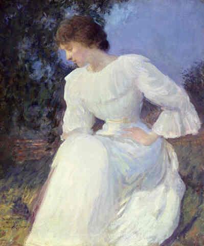 Эдмунд Чарльз Тарбелл. Портрет женщины в белом