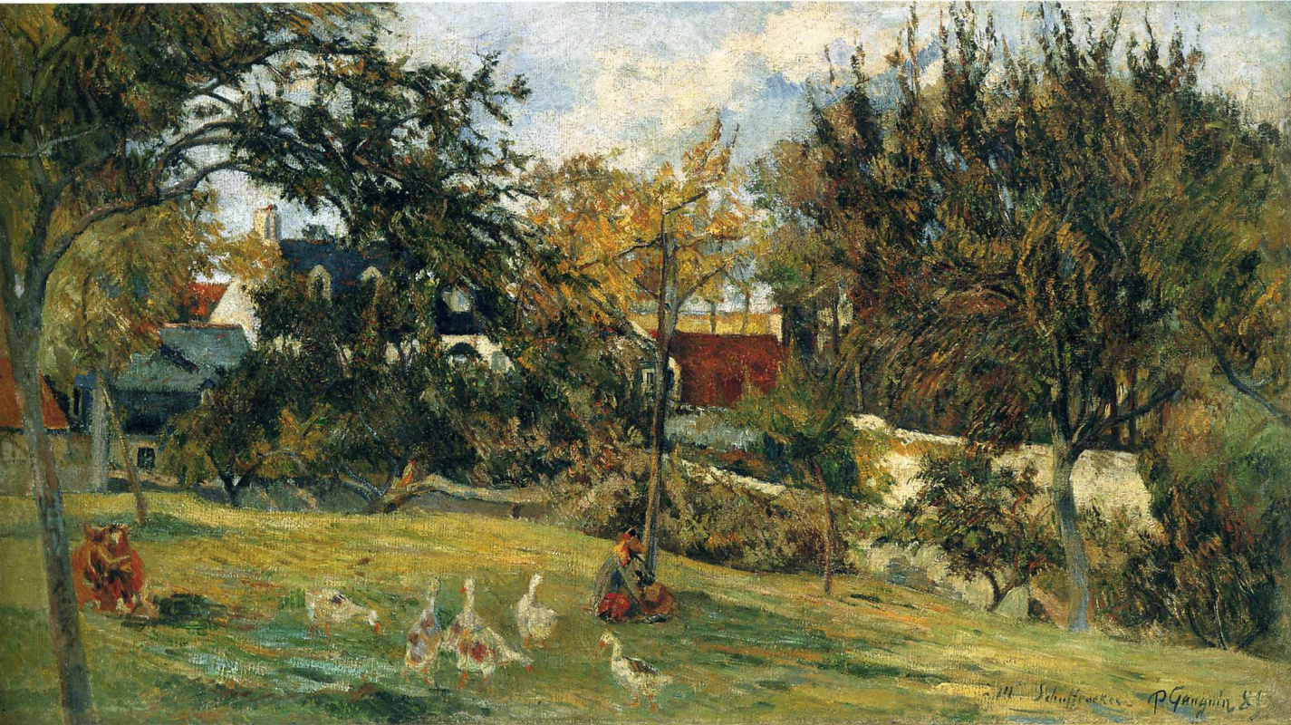 Geese in the meadow by Paul Gauguin: History, Analysis & Facts